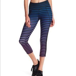 Ombré Stripe Crop Leggings